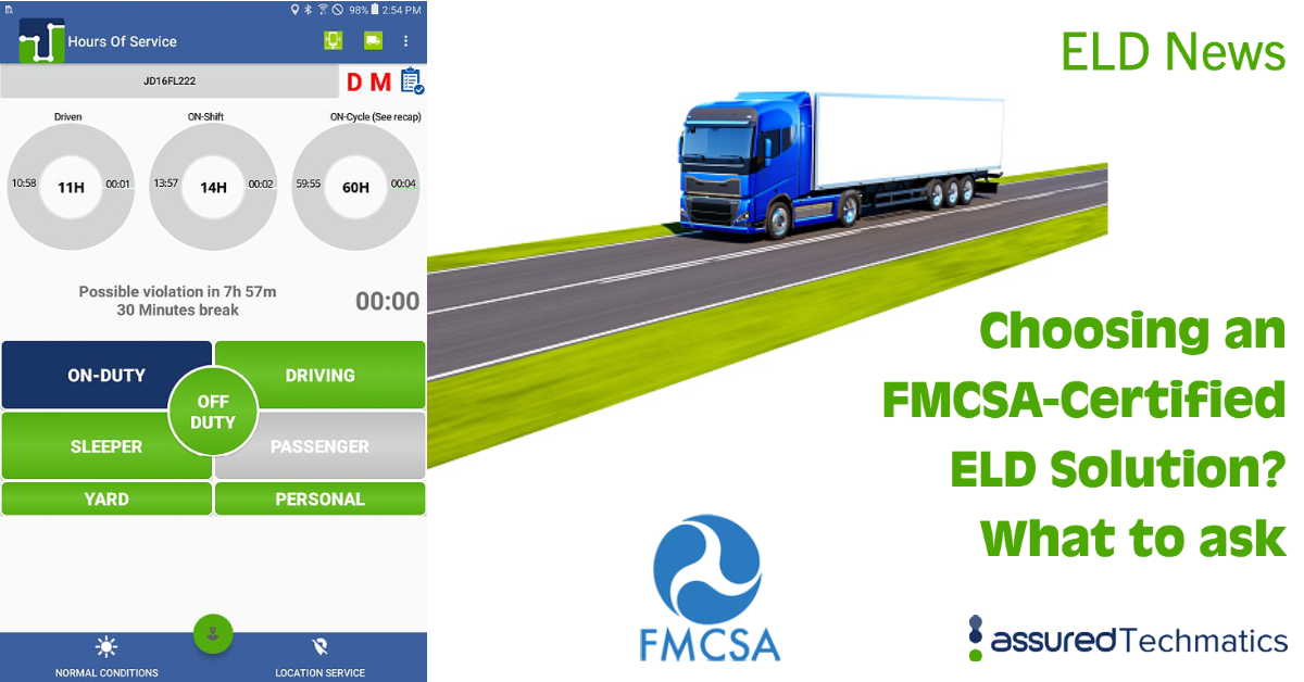 FMCSA-Certified ELD Solution
